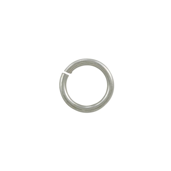 Open Round Jump Ring 7.5mm Silver Color (50-Pcs)