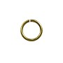 Open Round Jump Ring 7.6mm Antique Brass Plated (50-Pcs)