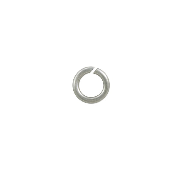 Open Round Jump Ring 5mm Silver Color (100-Pcs)