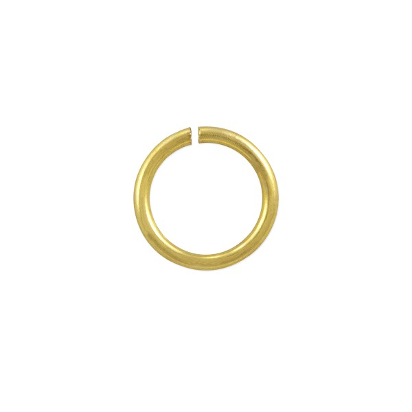 Open Round Jump Ring 8mm Gold Color (20-Pcs)