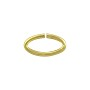 Open Oval Jump Ring 12x6mm Gold Plated (25-Pcs)