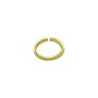 Open Oval Jump Ring 8x6mm Gold Plated (50-Pcs)