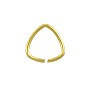 Open Triangle Jump Ring 10mm Gold Color (10-Pcs)