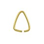Open Triangle Jump Ring 11x9mm Gold Color (10-Pcs)