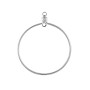 "Hoops with Drop 1"" Silver Plated (10-Pcs)"
