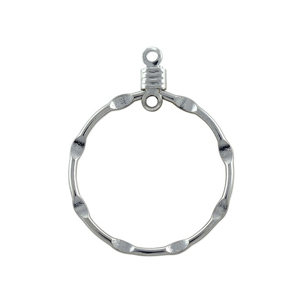 "Hammered Hoops 3/4"" Silver Plated (10-Pcs)"