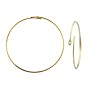 "Wire Hoop 3/4"" Gold Plated (6-Pcs)"