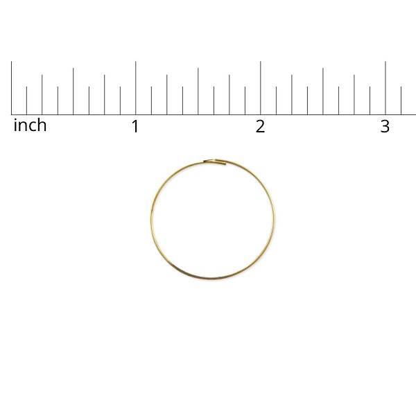 "Wire Hoop 1"" Gold Color (6-Pcs)"
