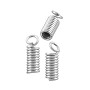 Spring Cord End Cap 11x4mm Silver Color (10-Pcs)