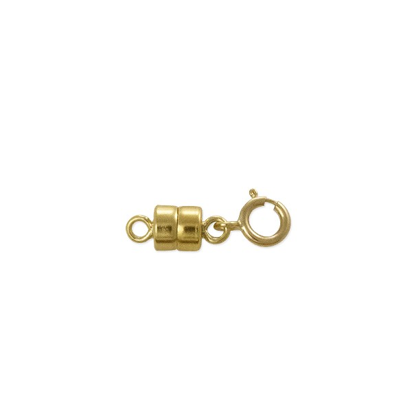 Magnetic Clasp Converter 10x4mm Gold Filled with 5mm Spring Ring (1-Pc)