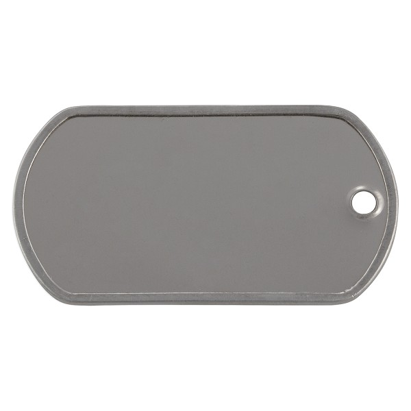 "Military Dog Tag 2"" x 1-18"" Surgical Stainless Steel (10-Pcs)"