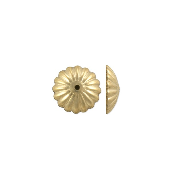 Scalloped Bead Cap 9x2mm Gold Filled (1-Pc)