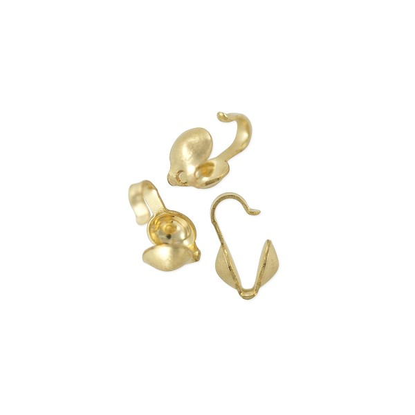 Clam Shell Bead Tip 3.5mm Cup Gold Filled (1-Pc)