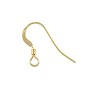 Flat Fish Hook Ear Wire 14x14mm Gold Filled (1-Pc)