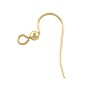 Fish Hook Ear Wire with 3mm Bead 15x20mm Gold Filled (1-Pc)