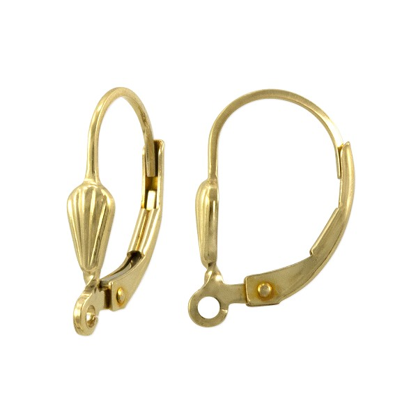 Lever Back Earring with Shell 16x11mm Gold Filled (1-Pc)