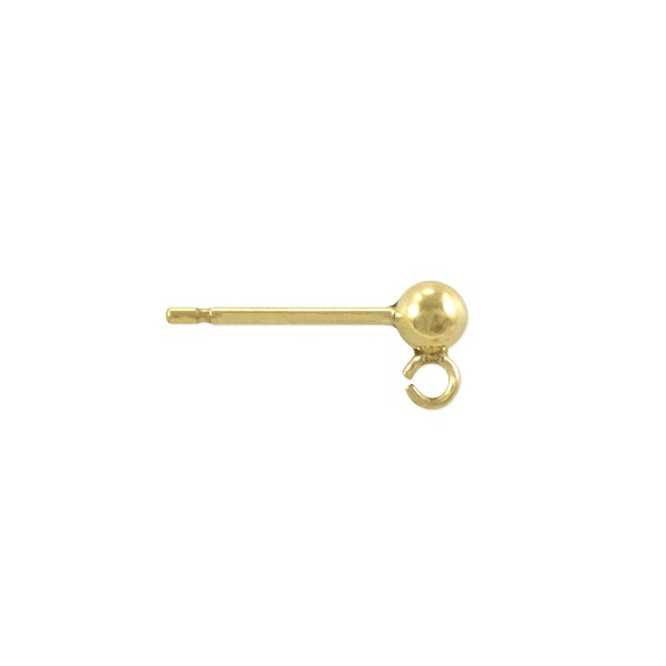 Ball Post Earring 3mm Gold Filled (1-Pc)