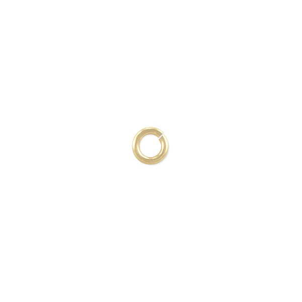 Open Round Twist Lock Jump Ring 4mm Gold Filled (2-Pc)