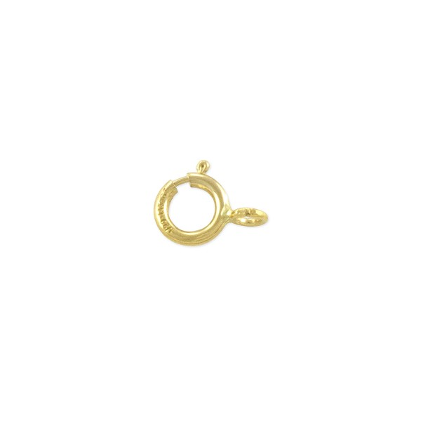 Spring Ring Clasp 5mm with Open Ring Gold Filled (1-Pc)