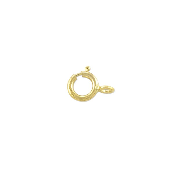 Spring Ring Clasp 5mm with Closed Ring Gold Filled (1-Pc)