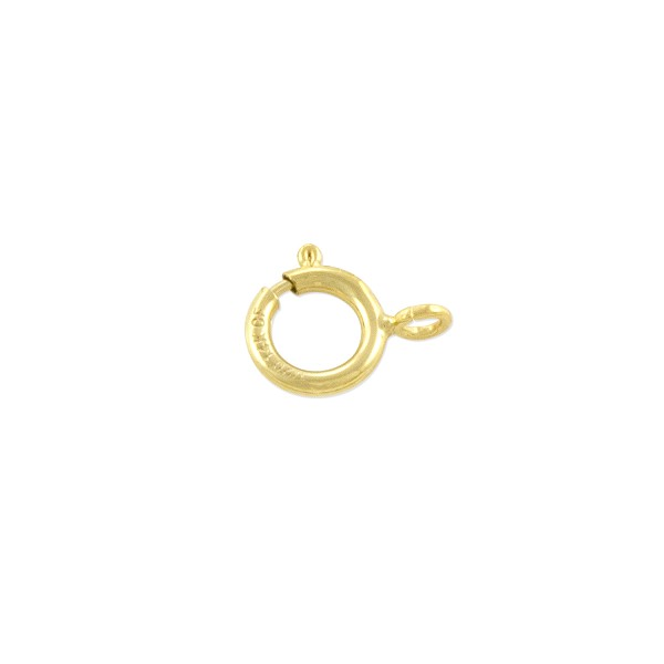 Spring Ring Clasp 6mm with Open Ring Gold Filled (1-Pc)