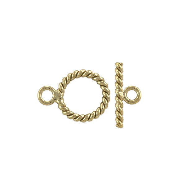 Twisted Toggle Clasp 9x11.5mm Gold Filled (Set)
