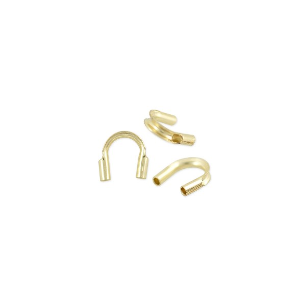 Wire Guard 4.5x1mm (0.50mm Hole) Gold Filled (2-Pcs)