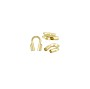 Wire Guard 4.5x1mm (0.75mm Hole) Gold Filled (2-Pcs)