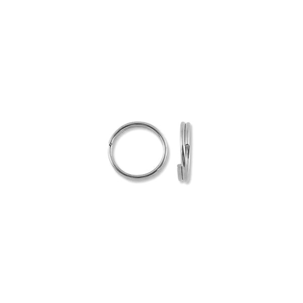 12mm Silver Plated Split Ring (10-Pcs)