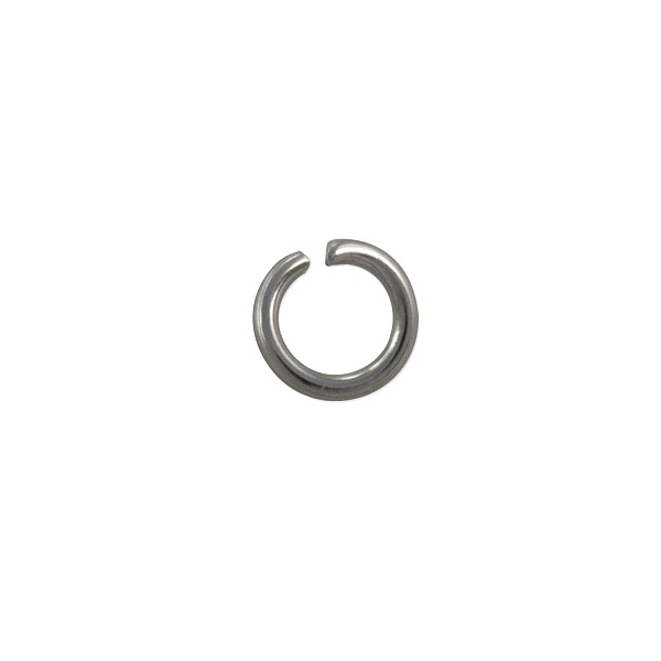 Surgical Stainless Steel 6mm Open Jump Ring (10-Pcs)