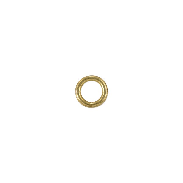 Closed Jump Ring 6mm Gold Plated (5-Pcs)