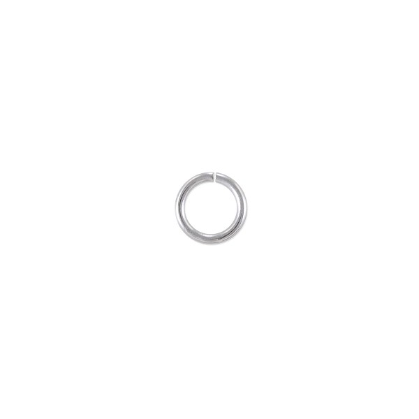 Open Round Jump Ring 5.5mm Silver Plated (100-Pcs)