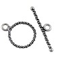 Twisted Rope Toggle Clasp 14mm Sterling Silver (Set)