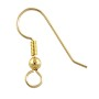 Fish Hook Ear Wire w/ Bead 20x16mm Gold Filled (1-Pc)
