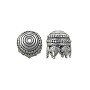 Maharajah Bead Cap 14x13mm Pewter Antique Silver Plated (1-Pc)