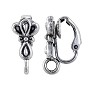 Scalloped Clip-On Earring 17x8mm Pewter Antique Silver Plated (1-Pc)