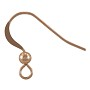 Flat Fish Hook Ear Wire with Bead 16x19mm Rose Gold Filled (1-Pc)