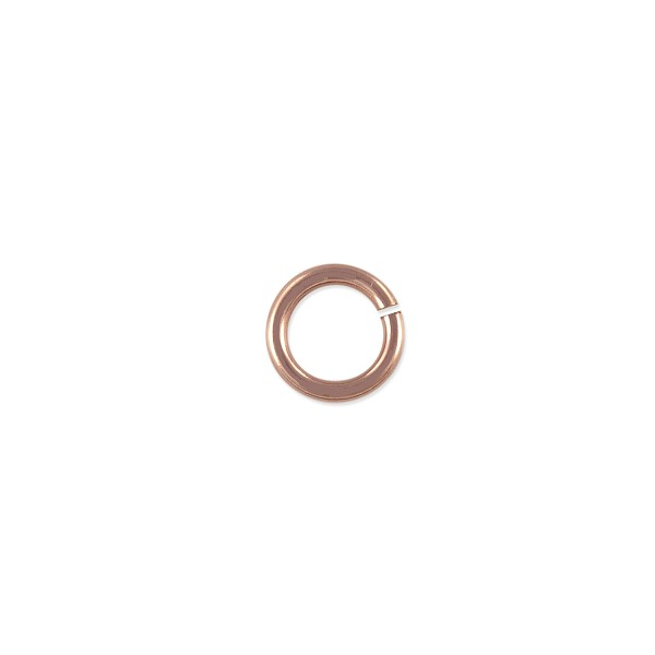 Open Jump Ring 4mm Rose Gold Filled (4-Pcs)