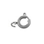 Spring Ring Clasp 8mm Surgical Stainless Steel (1-Pc)