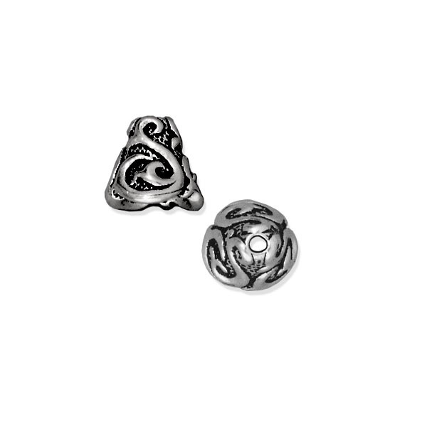 TierraCast Lily Cone 9x8mm Pewter Antique Silver Plated (1-Pc)