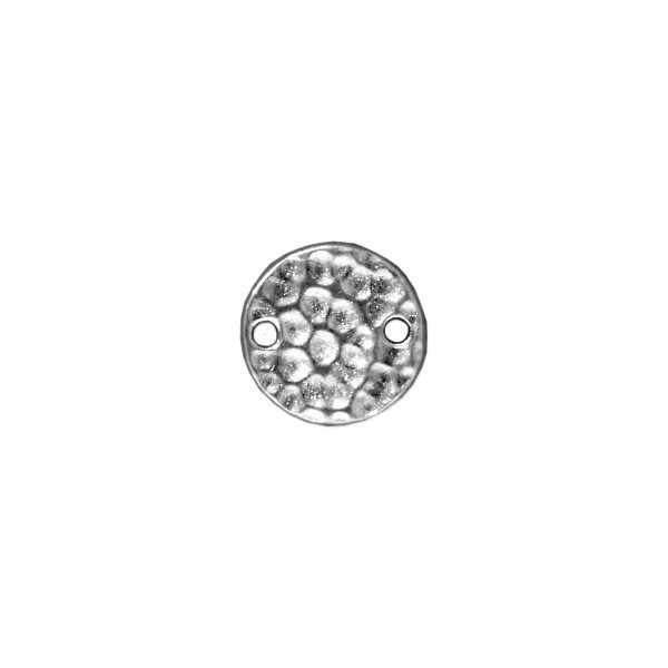 TierraCast Hammertone Link 11mm Pewter Bright Rhodium (1-Pc)