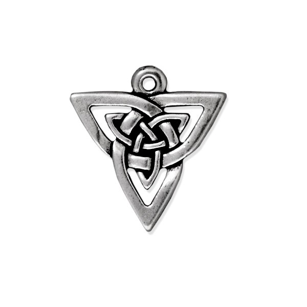 TierraCast Celtic Open Triangle Pendant 20x21mm Pewter Antique Silver Plated (1-Pc)