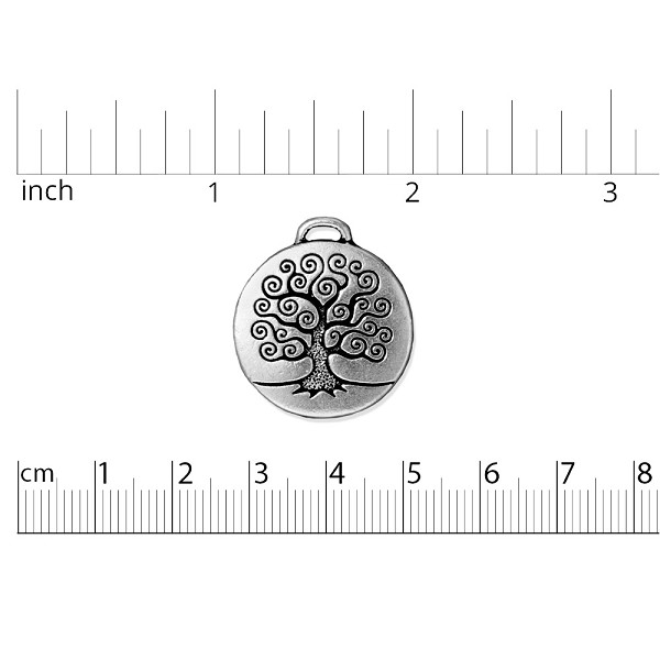 TierraCast Tree of Life Pendant 24x27mm Pewter Antique Silver Plated (1-Pc)