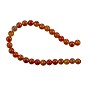 "10 Strands of Fire Agate Round Beads 6mm (8"" Strand)"
