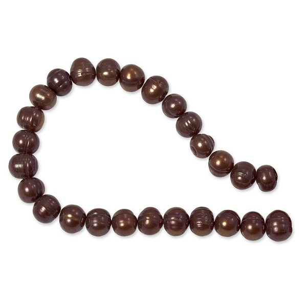"10 Strands of Freshwater Potato Pearl Antique Copper 8-9mm (16"" Strands)"