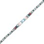 "Mini 9"" Beaded Anklet Aqua/Pink/Crystal"