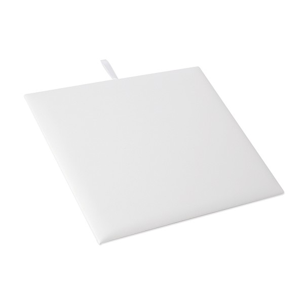 Half Size White Leatherette Display Pad