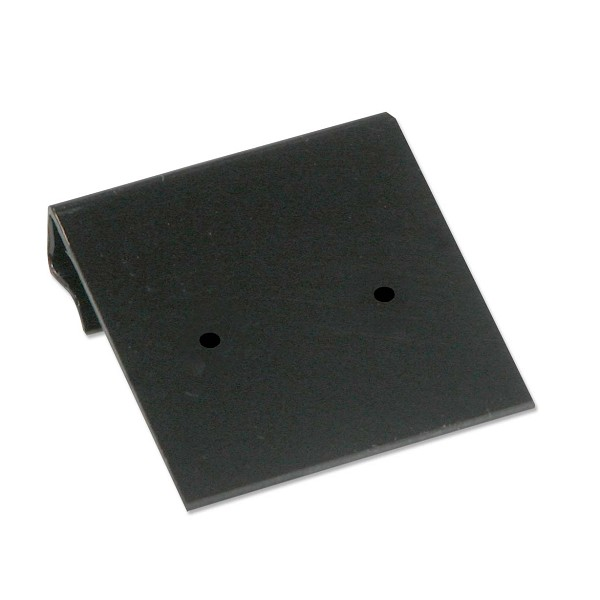 Hanging Earring Card Black Plastic 1x1 (100-Pcs)