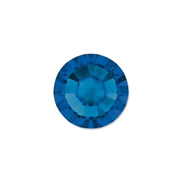 Swarovski 2028 3mm (SS12) Capri Blue Hotfix Flat Back (10-Pcs)