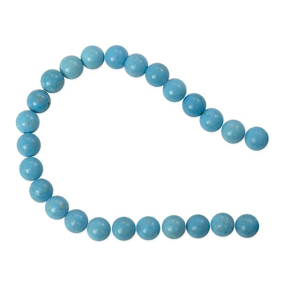 "Dyed Turquoise Howlite 6mm Round Beads (15"" Strand)"
